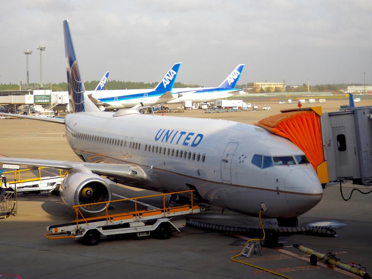ユナイテッド航空 UA079便 成田→ソウル仁川