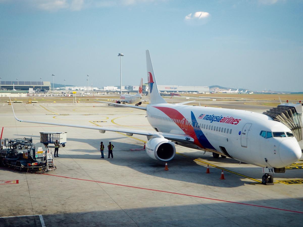 マレーシア航空でジャカルタに行くよ