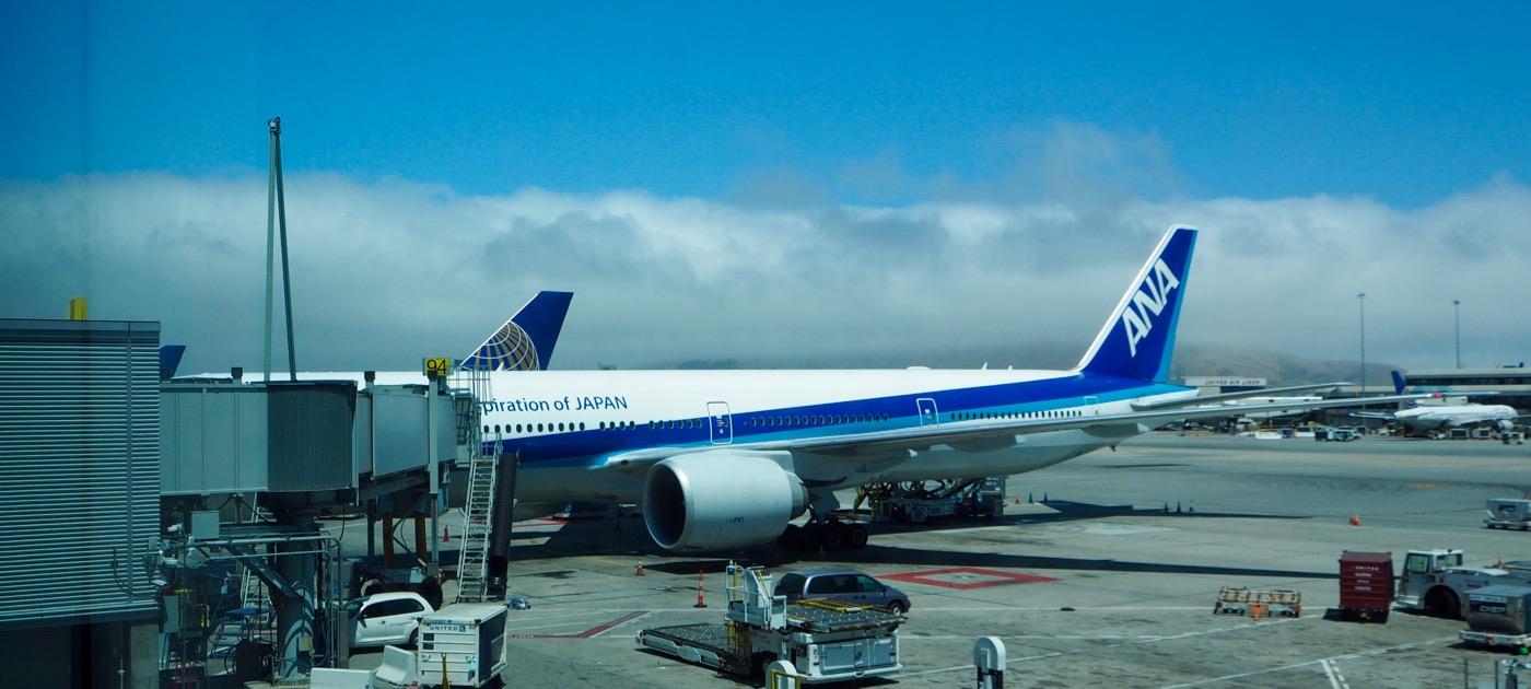 ANA NH007便 サンフランシスコ→成田 B777-300ER ファーストクラス搭乗記