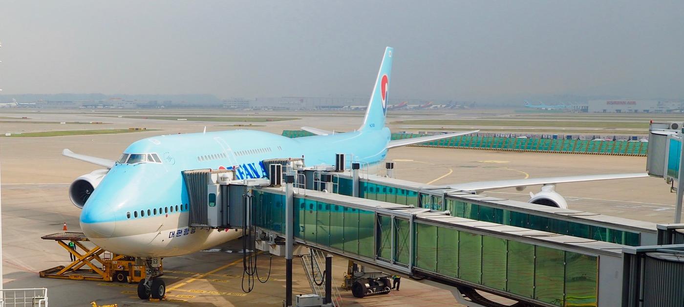 大韓航空 KE613便 ソウル仁川→香港 B747-8 エコノミークラス搭乗記