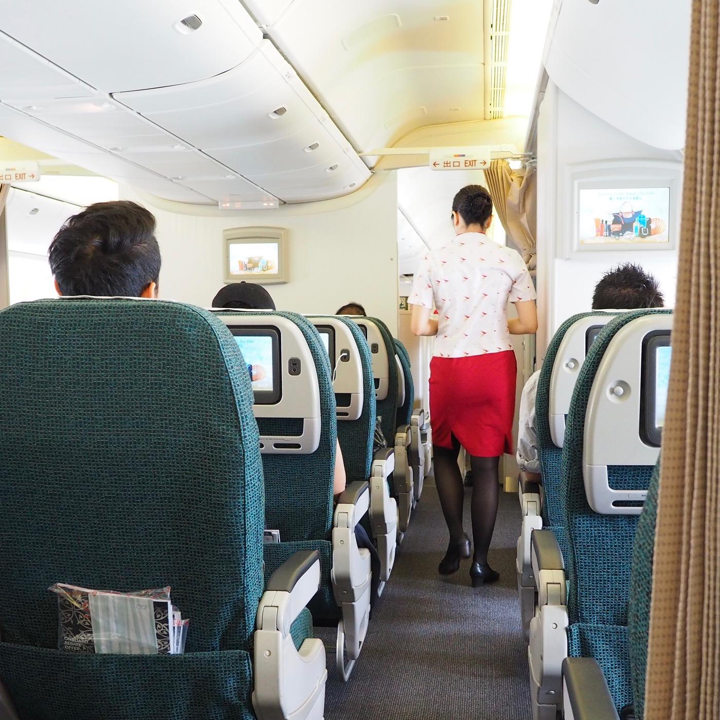 キャセイパシフィック航空 CX472便 香港→台北 エコノミークラス搭乗記