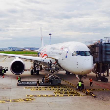 マレーシア航空の最新鋭機 A350-900に乗る!! MH1138便 クアラルンプール→ペナン エコノミークラス搭乗記